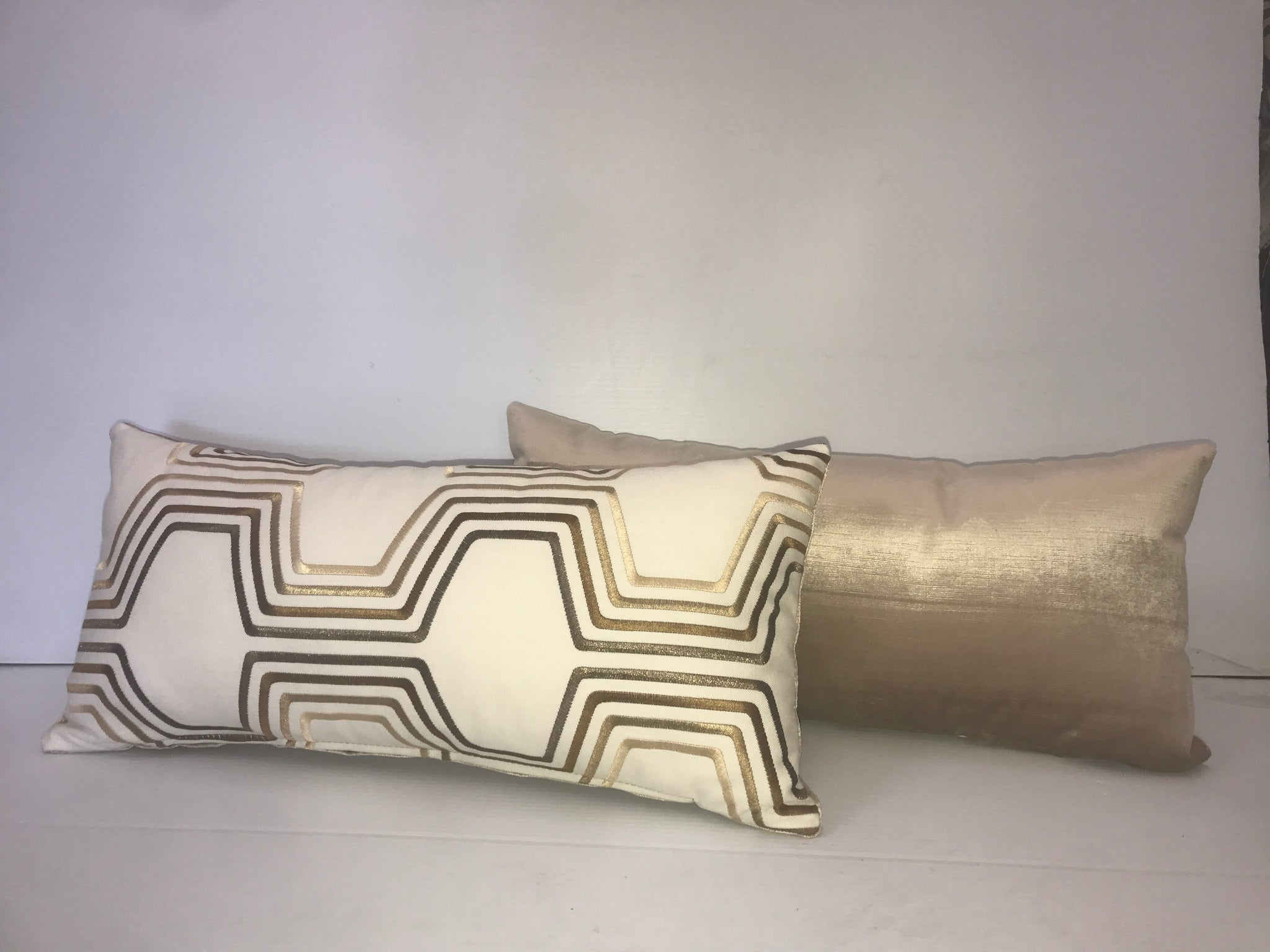 Gold Pattern Wide Pillow