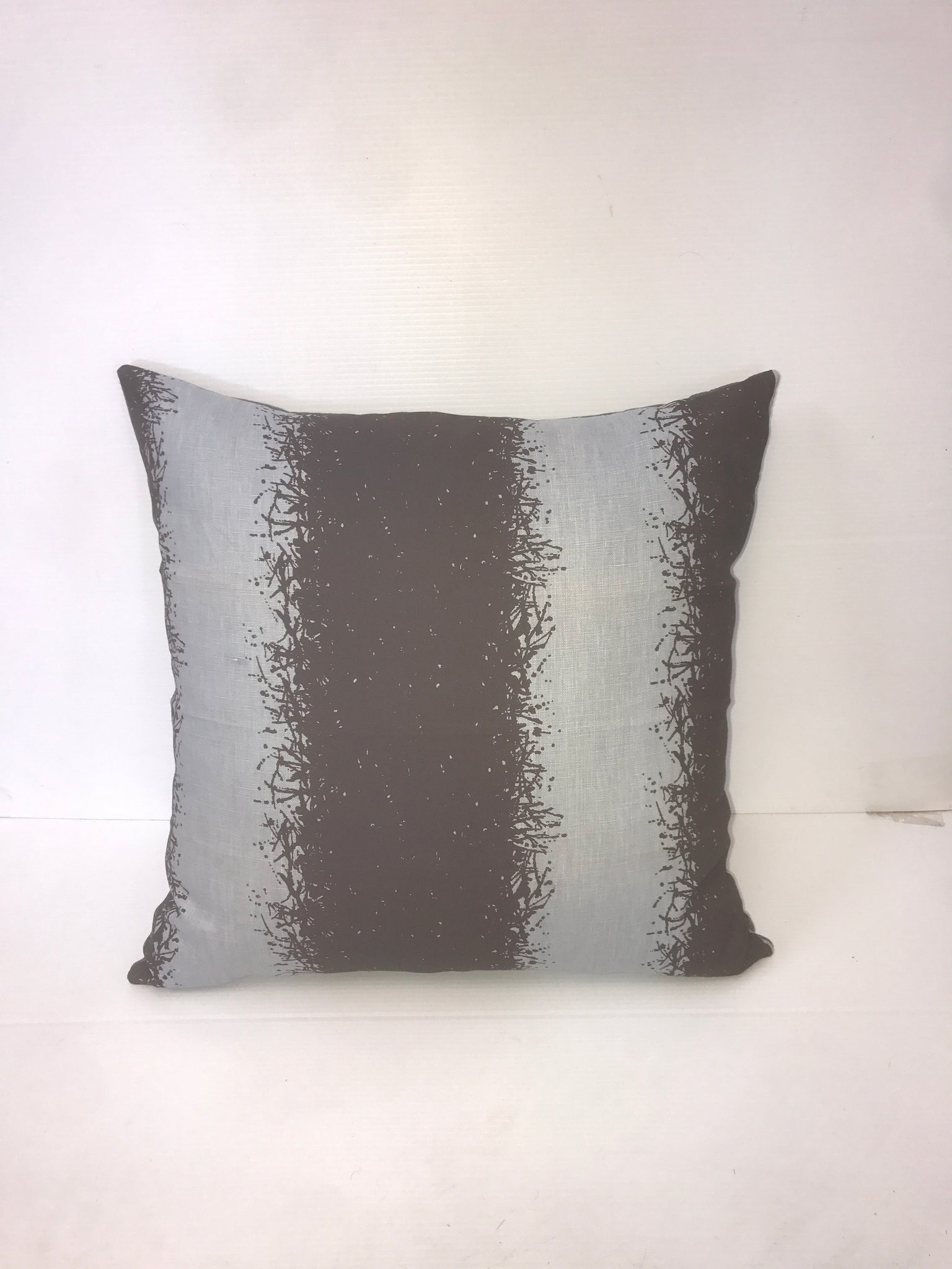 Grey/Black Square Pillow