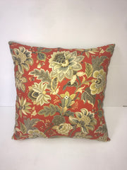 Red Flower Pillow