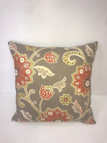 Red and Gold Flower Pillow