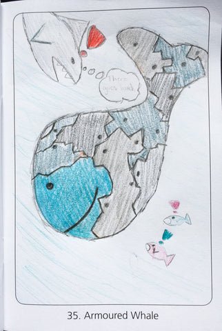Animal Squares Sample Armoured Whale