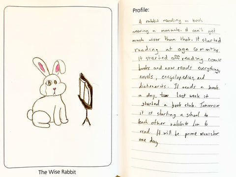Sample page for Animal Squares: The Wise Rabbit