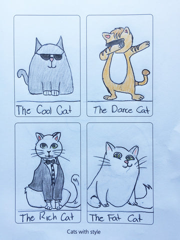 Sample page from Creative Magic featuring images called Cats With Style
