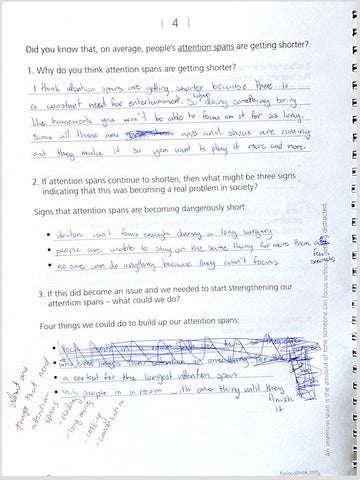 Sample page for A Book of Questions