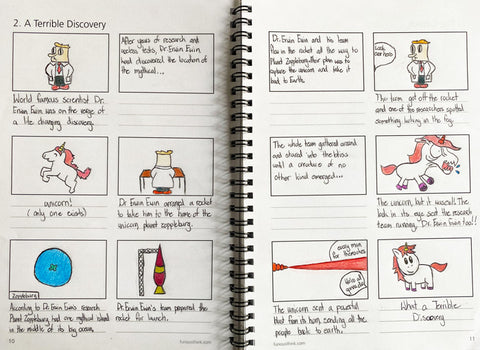 Storyboard Challenge final sample page