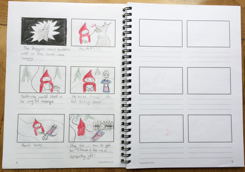 Storyboard Sample Page Little Red Riding Hood