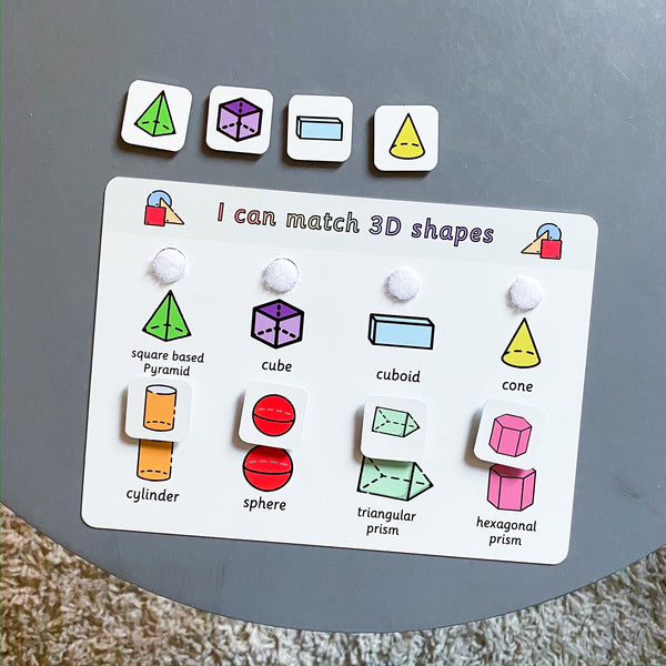 3D Shapes Matching Board