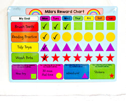 Rainbow Reward Chart Whiteboard
