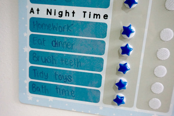 Stars Reward Chart Whiteboard (CHOOSE YOUR COLOUR!)