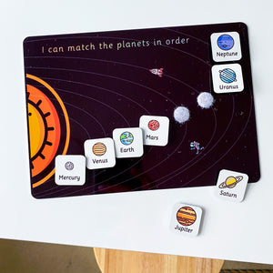Space Planets Solar System Matching Mat