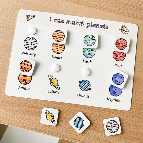 Planets Space Matching Mat