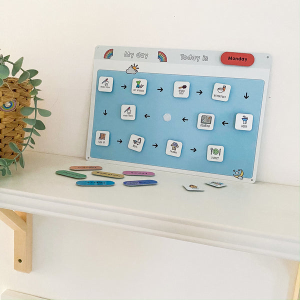 Children's Daily Routine Chart with Tokens
