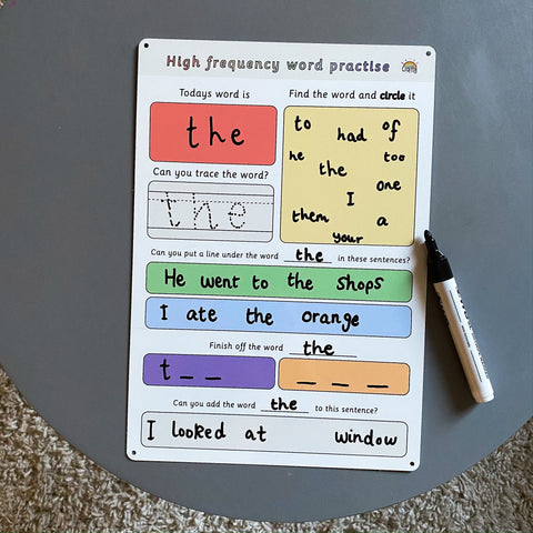 High Frequency Words Practise
