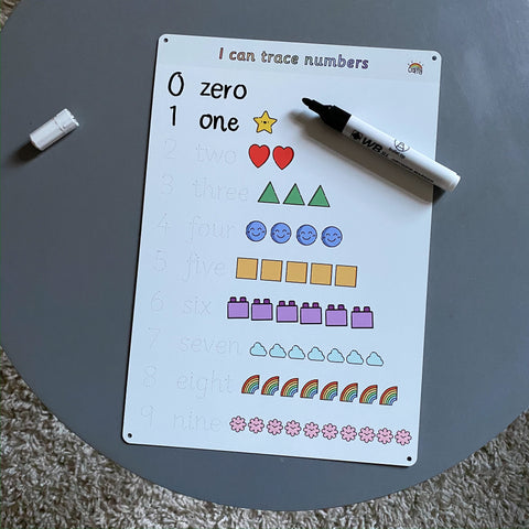 Illustrated Number Practise Whiteboard