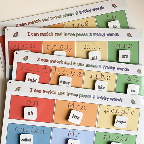 Tricky Words Matching Mats Bundle