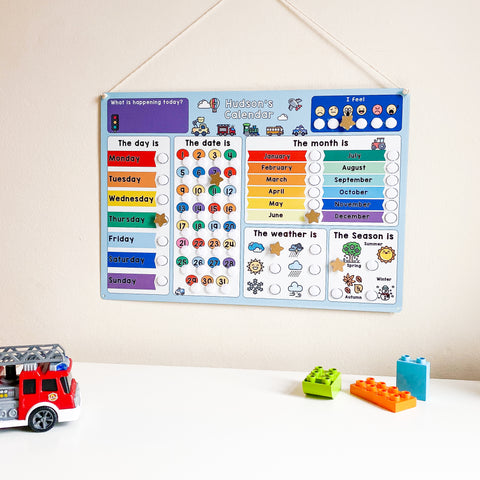 Children's Vehicle Calendar