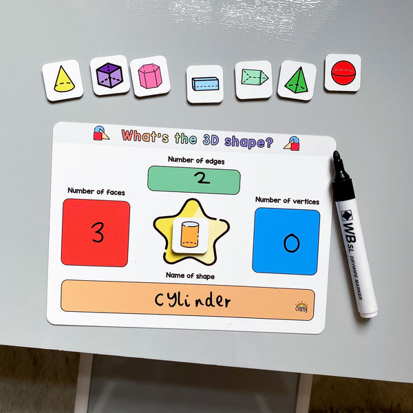 What is the 3D Shape? Learning Board