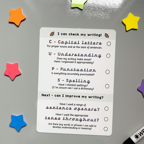 Check My Writing Checklist KS2
