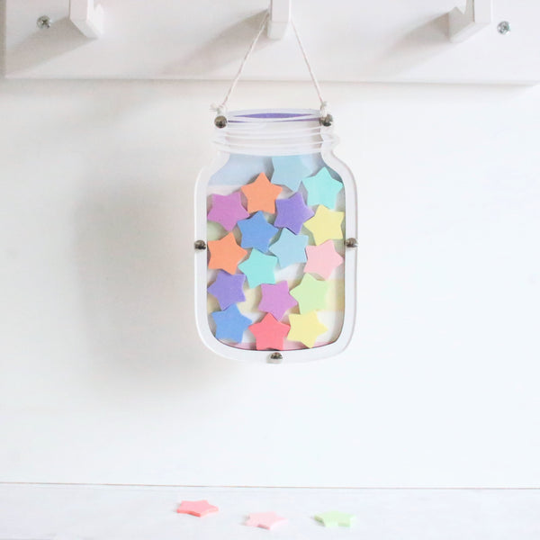 Pastel Stripe Star Reward Jar