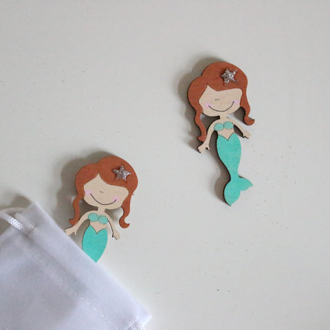 Mermaid Wooden Tokens