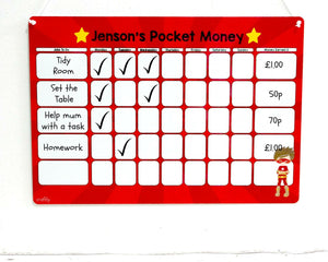 Superhero Pocket Money Whiteboard