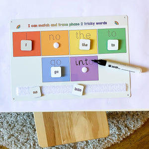 Phase 2 Tricky Words Matching Mat