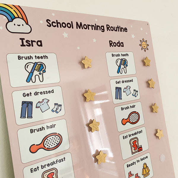 Shared School Routine Board