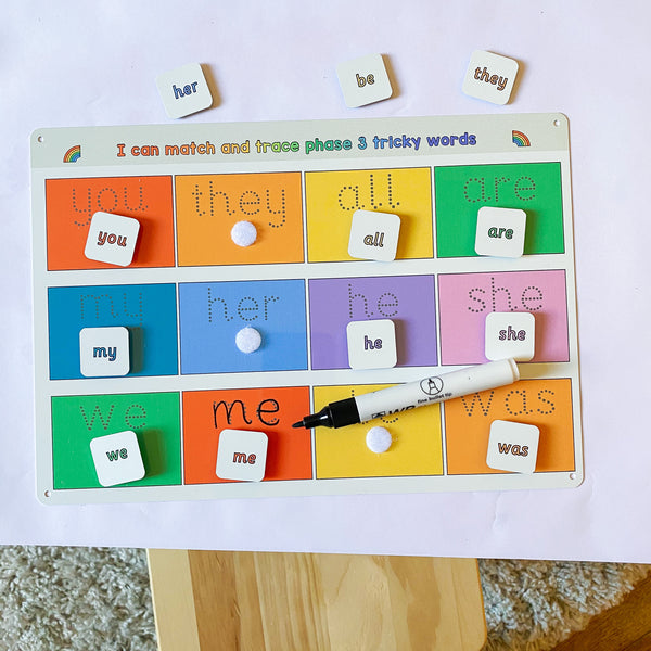 Phase 3 Tricky Words Matching Mat