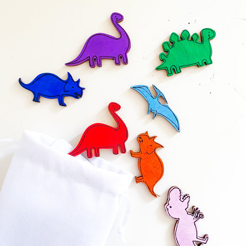 Dinosaur Wooden Tokens