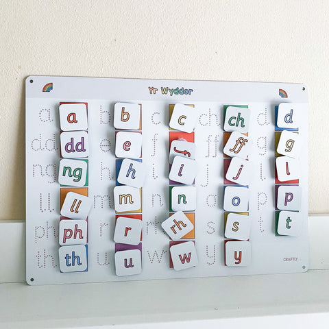 Welsh Alphabet Matching Mat
