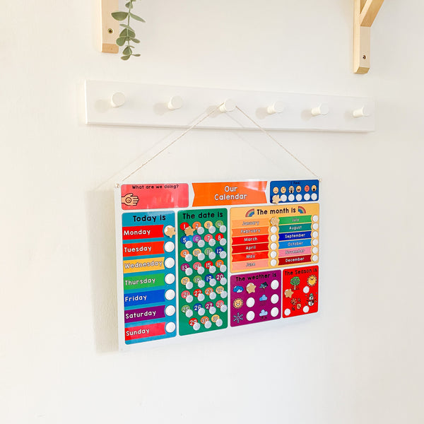 Children's Educational Calendar Whiteboard