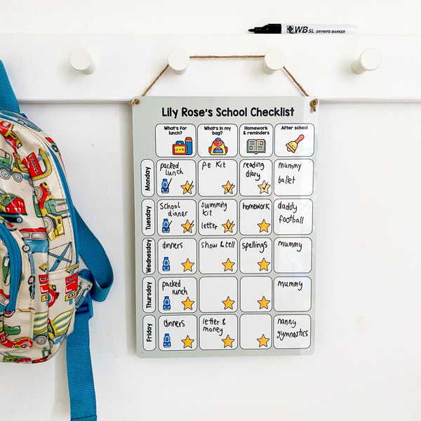 School Routine Checklist