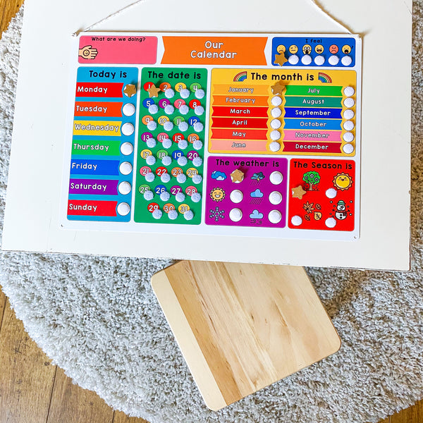 Children's Rainbow Calendar