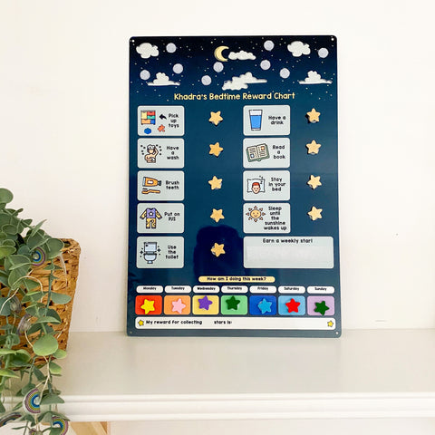 Children's Bedtime Routine Board