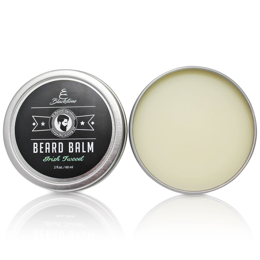 Blackstone Beard Balm - Canadian Made 100% Natural Beard and Mustache Conditioner 2oz - Irish Tweed