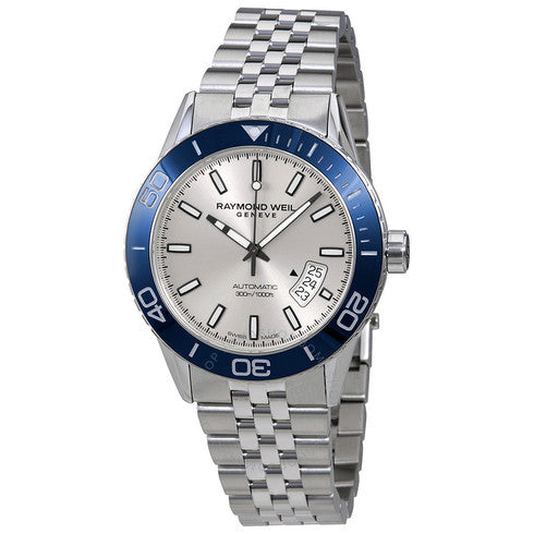 Freelancer Men's Silver Blue Automatic Diver Watch, 42mm 2760-ST4-65001