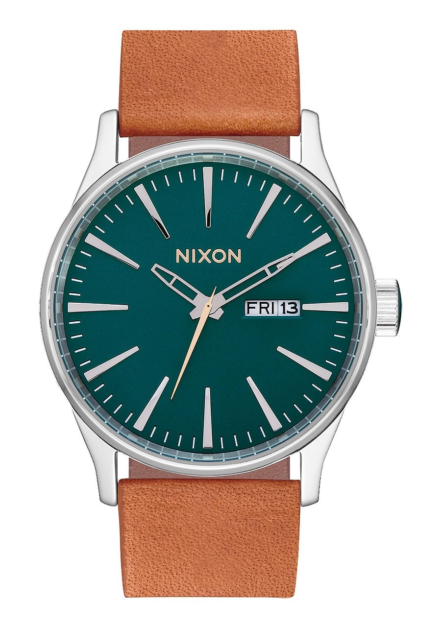 SENTRY LEATHER , 42 MM Dark Green / Saddle A105-2535-00