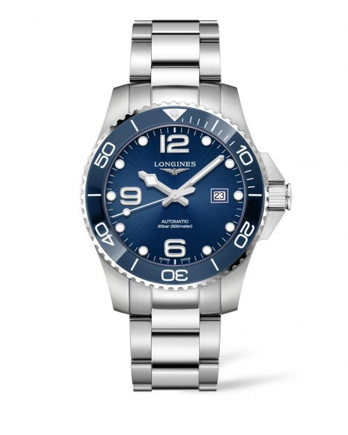 HYDROCONQUEST CERAMIC BEZEL 43MM BLUE DIAL AUTOMATIC DIVING WATCH L37824966