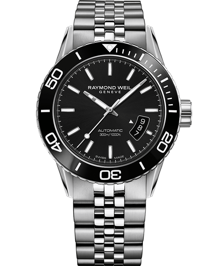 Freelancer Men's Automatic Black Steel Diver Watch, 42mm   2760-ST1-20001