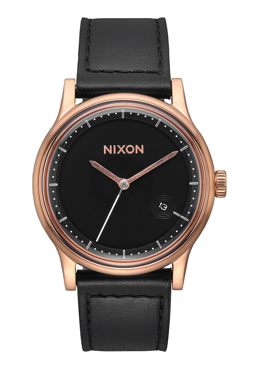 STATION LEATHER , 41 MM Rose Gold/Black A1161-1098-00
