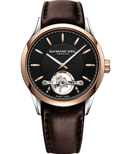 Freelancer Calibre RW1212 Automatic Rose Gold Brown Leather Watch, 42mm 2780-SC5-20001