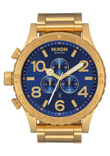 51-30 CHRONO , 51 MM All Gold/Blue Sunray A083-2735-00