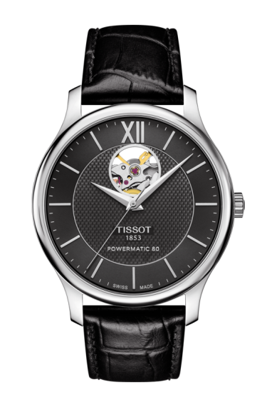 TISSOT TRADITION POWERMATIC 80 OPEN HEART T0639071605800