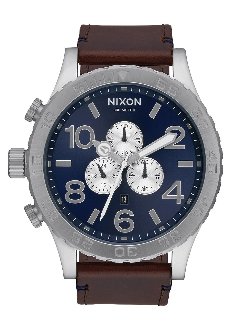 51-30 CHRONO LEATHER , 51 MM Color Blue Sunray / Brown A124-2301-00