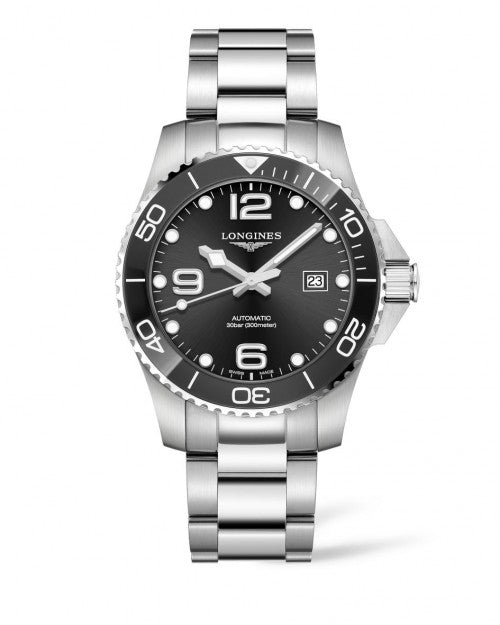 HYDROCONQUEST CERAMIC 43MM AUTOMATIC DIVING WATCH L37824566
