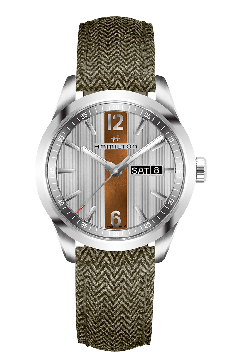 KHAKI BROADWAY DAY DATE QUARTZ H43311985