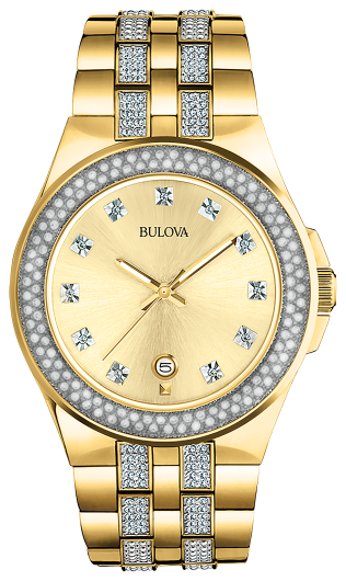 BULOVA 98B174 Men's Crystal Watch