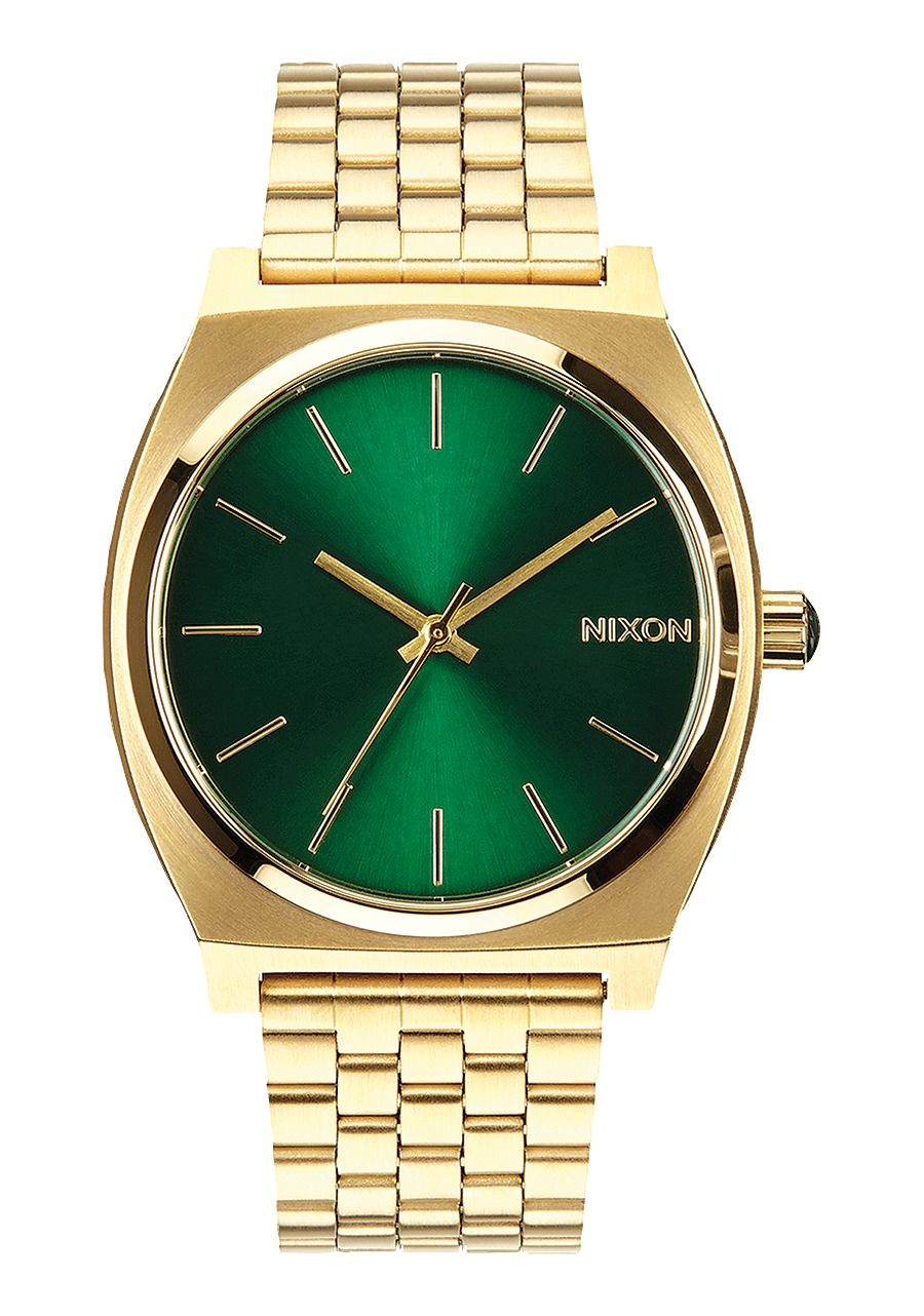 TIME TELLER , 37 MM Gold/Green Sunray A045-1919-00
