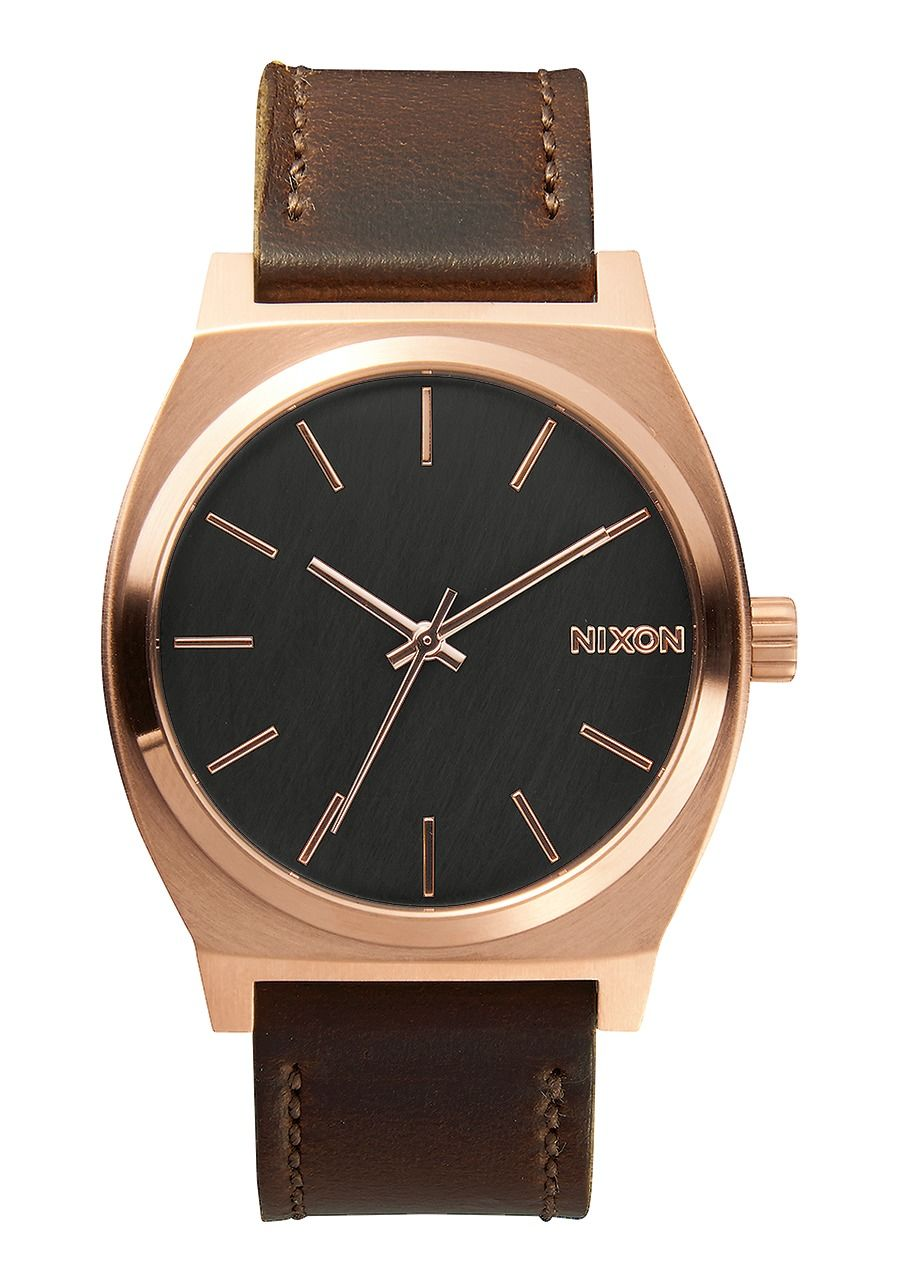 TIME TELLER , 37 MM Rose Gold/Gunmetal/Brown A045-2001-00