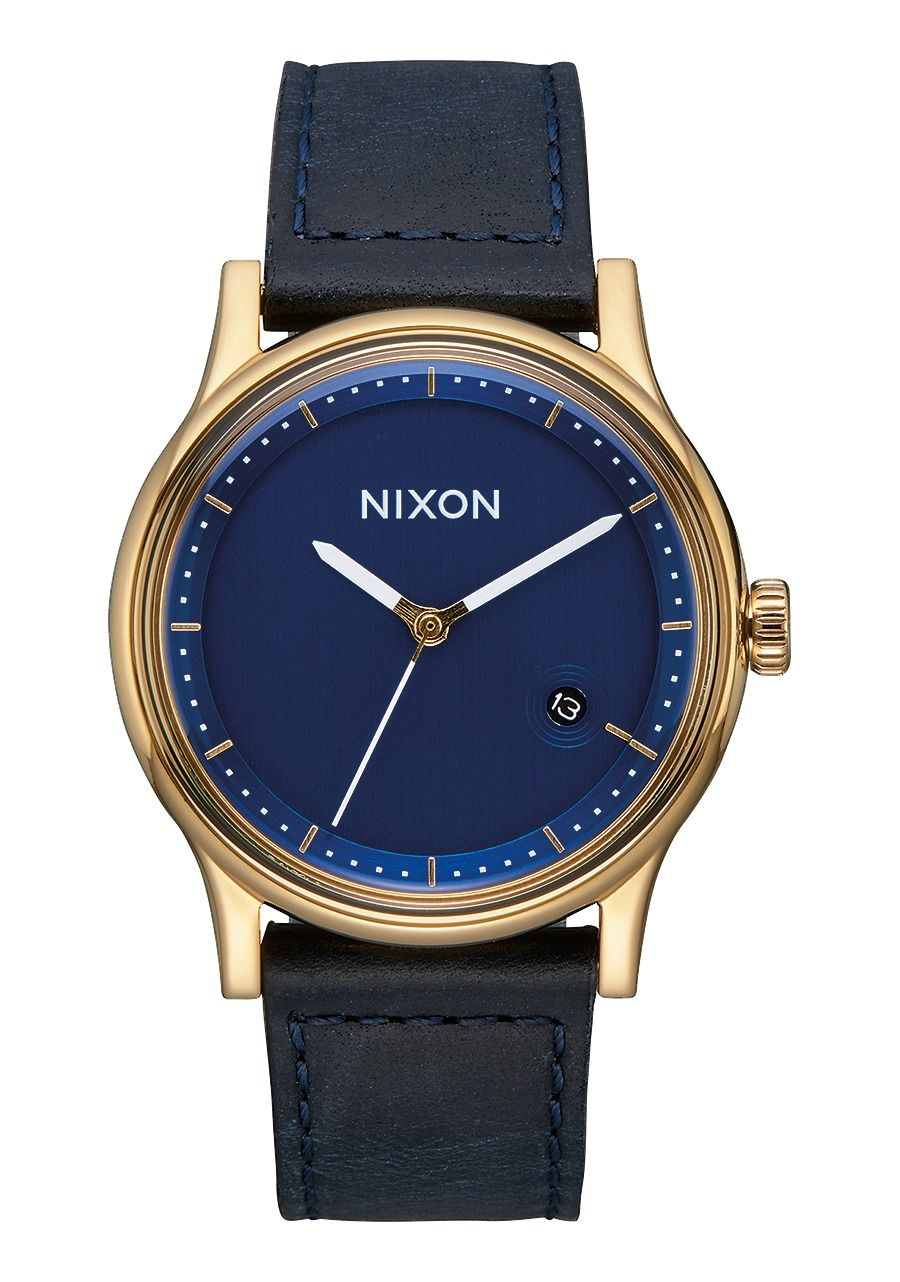 STATION LEATHER , 41 MM Gold/Navy A1161-933-00